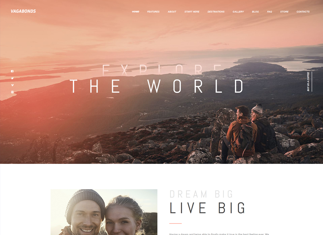 Vagabonds - Personal Travel & Lifestyle Blog WordPress Theme