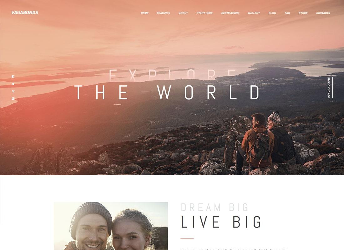 Vagabonds | Personal Travel & Lifestyle Blog WordPress Theme