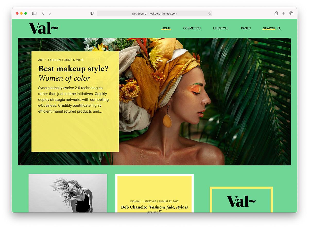 Colorful Blog theme - Val