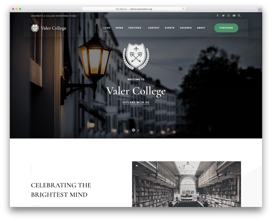 valer school website template