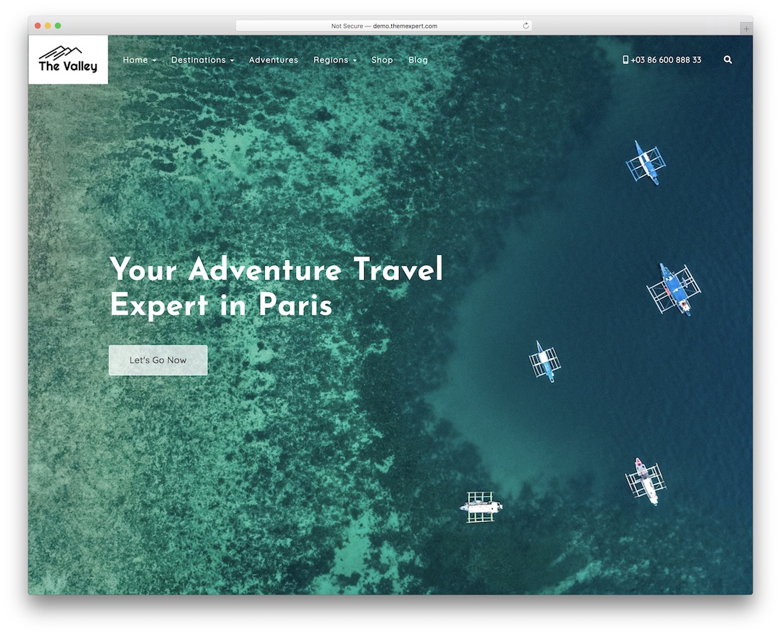 valley wordpress travel theme