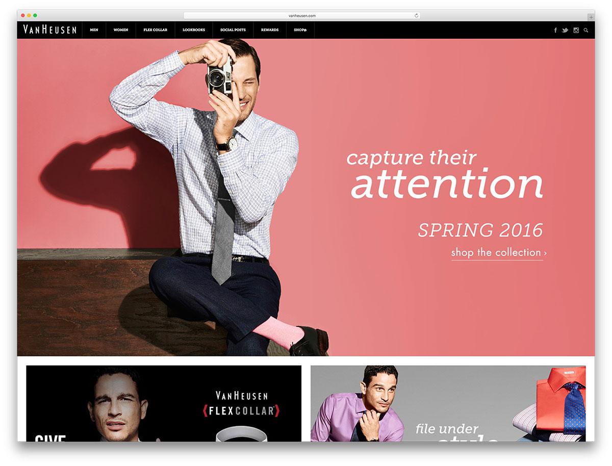 vanheusen-fashion-website-based-on-wordpress