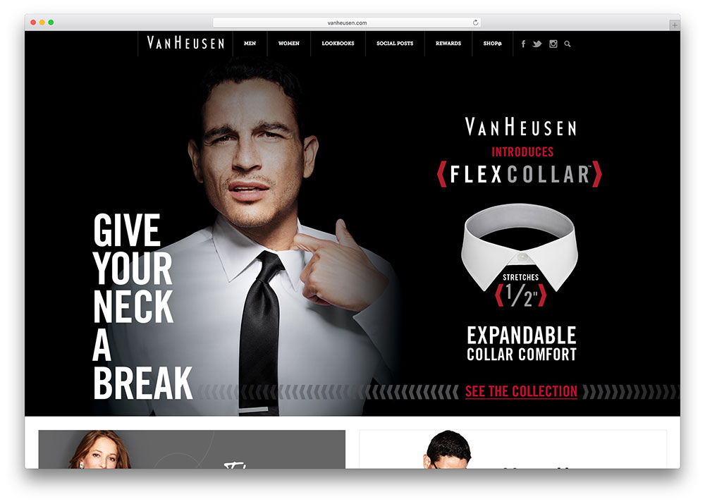 vanheusen-fashion-website