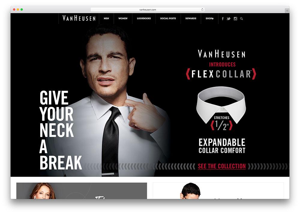 vanheusen-fashion-website