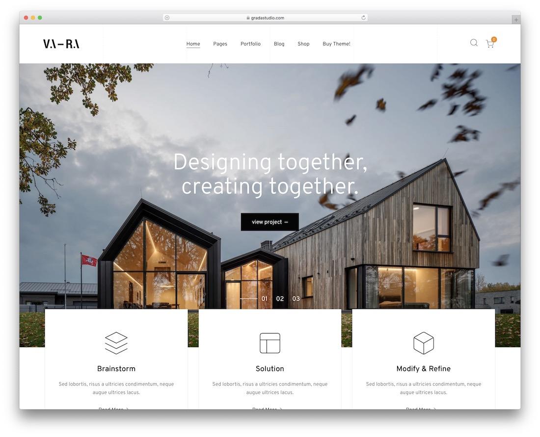 vara wordpress theme for architects