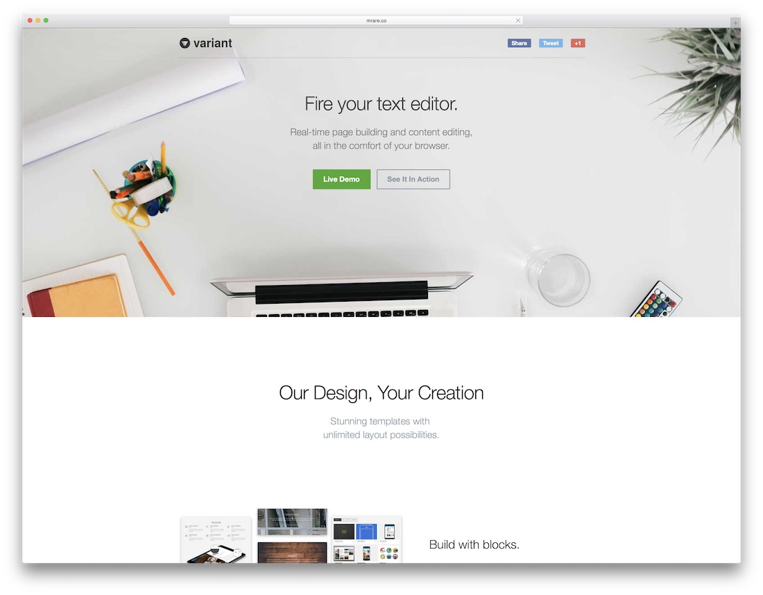 variant website builder for designers