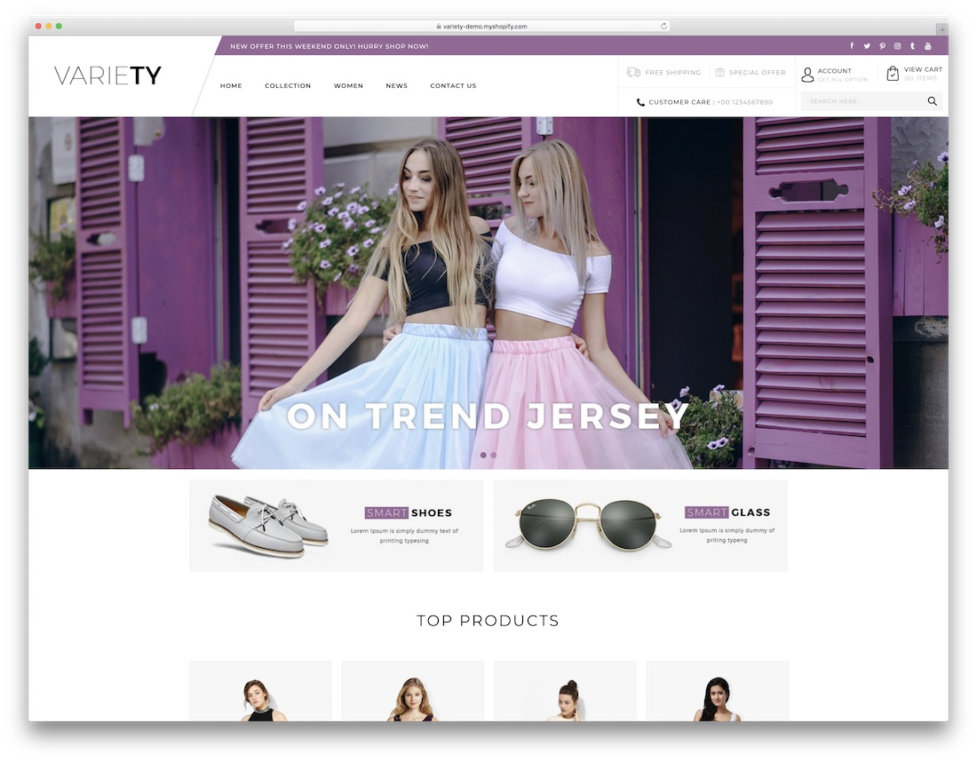 variety fashion shopify theme