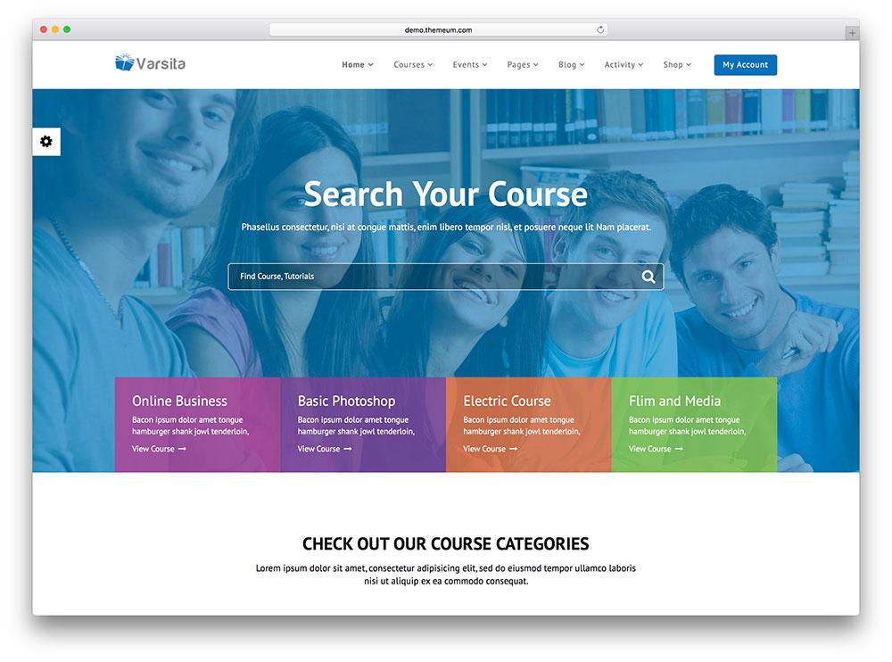 varsita - online course education theme