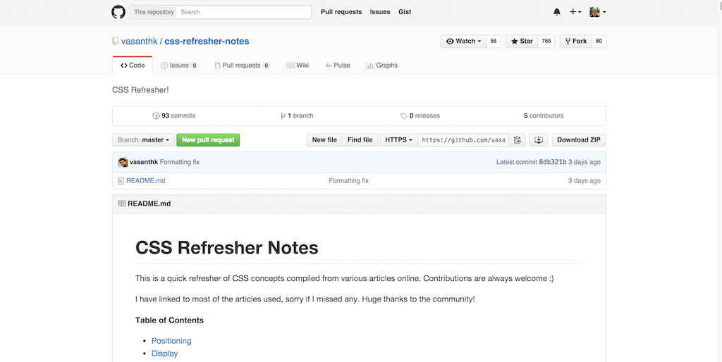 vasanthk css refresher notes CSS Refresher