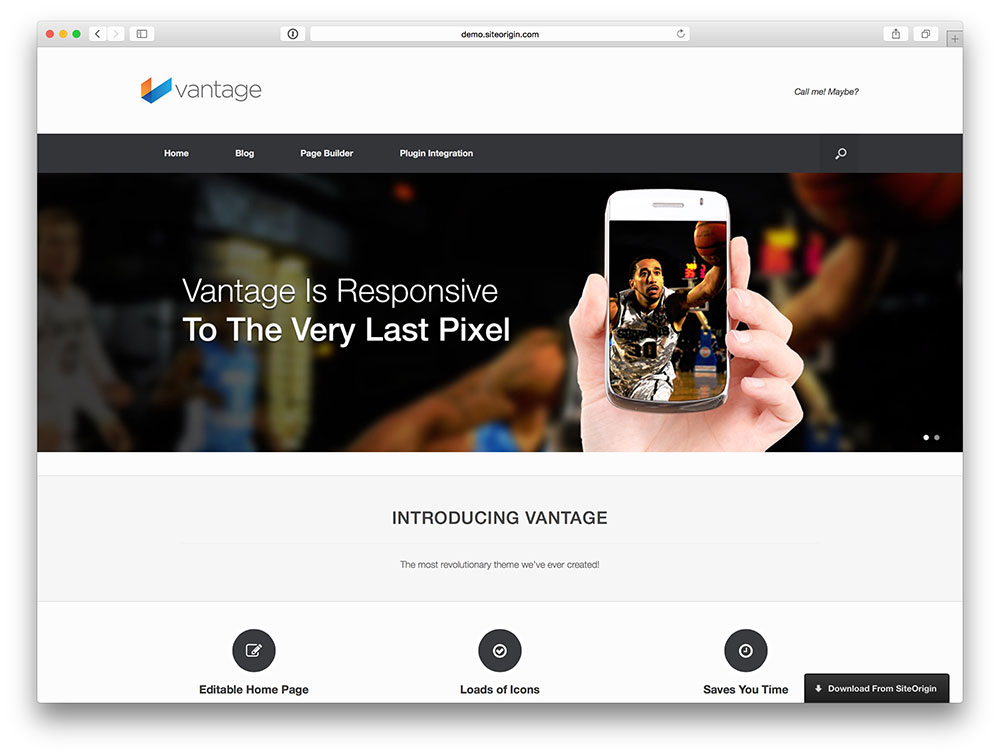 Vantage - Multipurpose theme