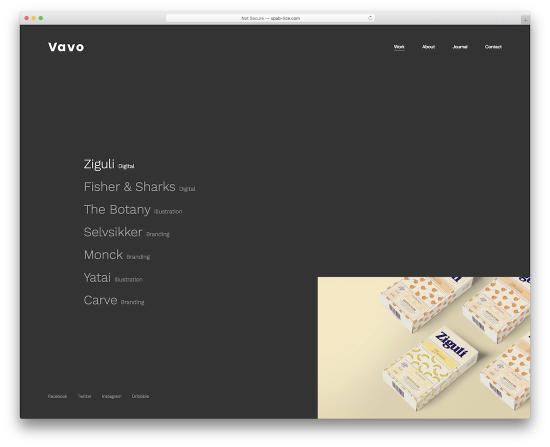vavo designer website template