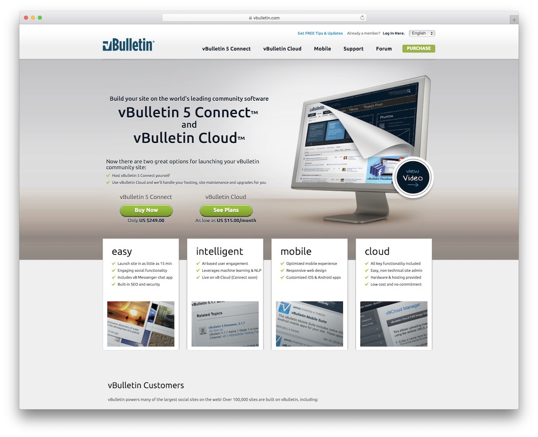 vbulletin content management system