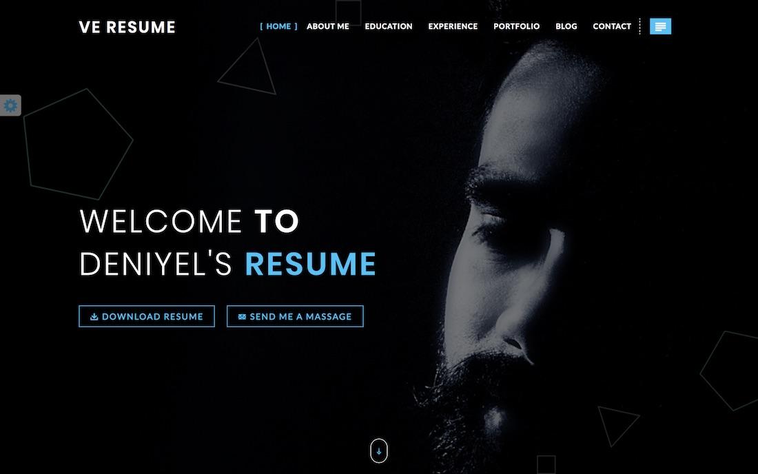 ve resume website template