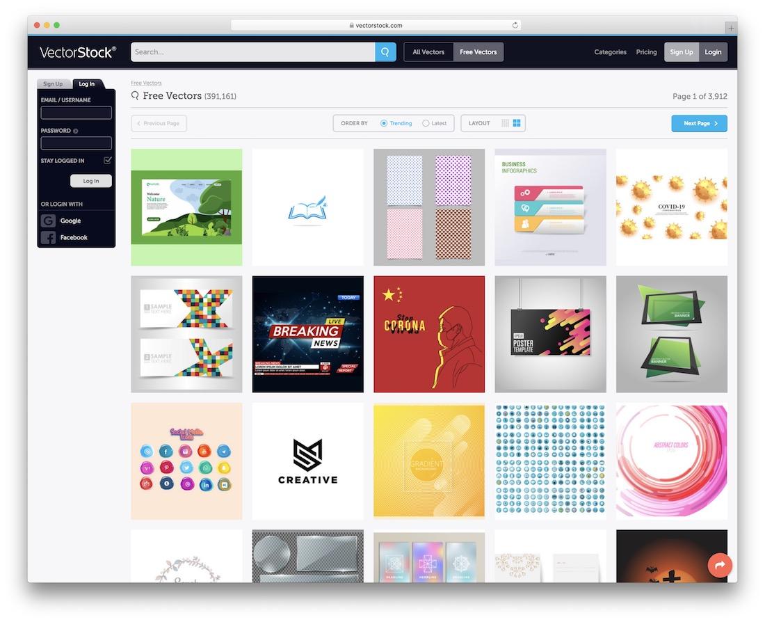 vectorstock free vector images website