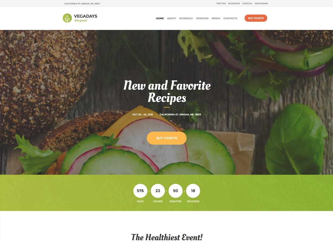 베가 날 | 채식 음식 축제 및 행사 WordPress Theme