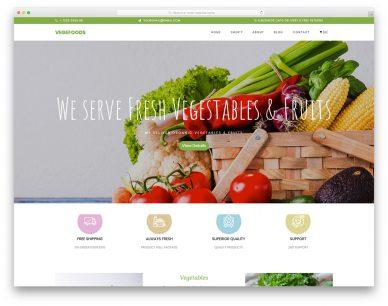 Vegefoods Free Template