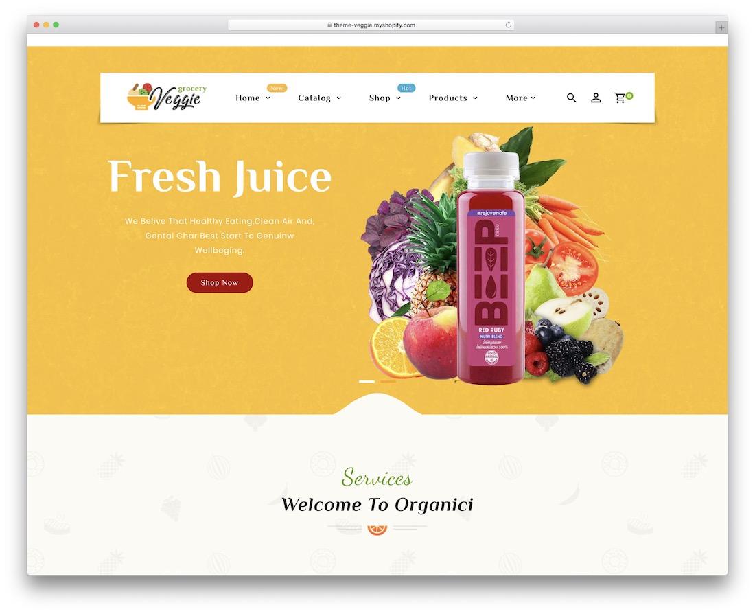 veggie shopify bootstrap theme