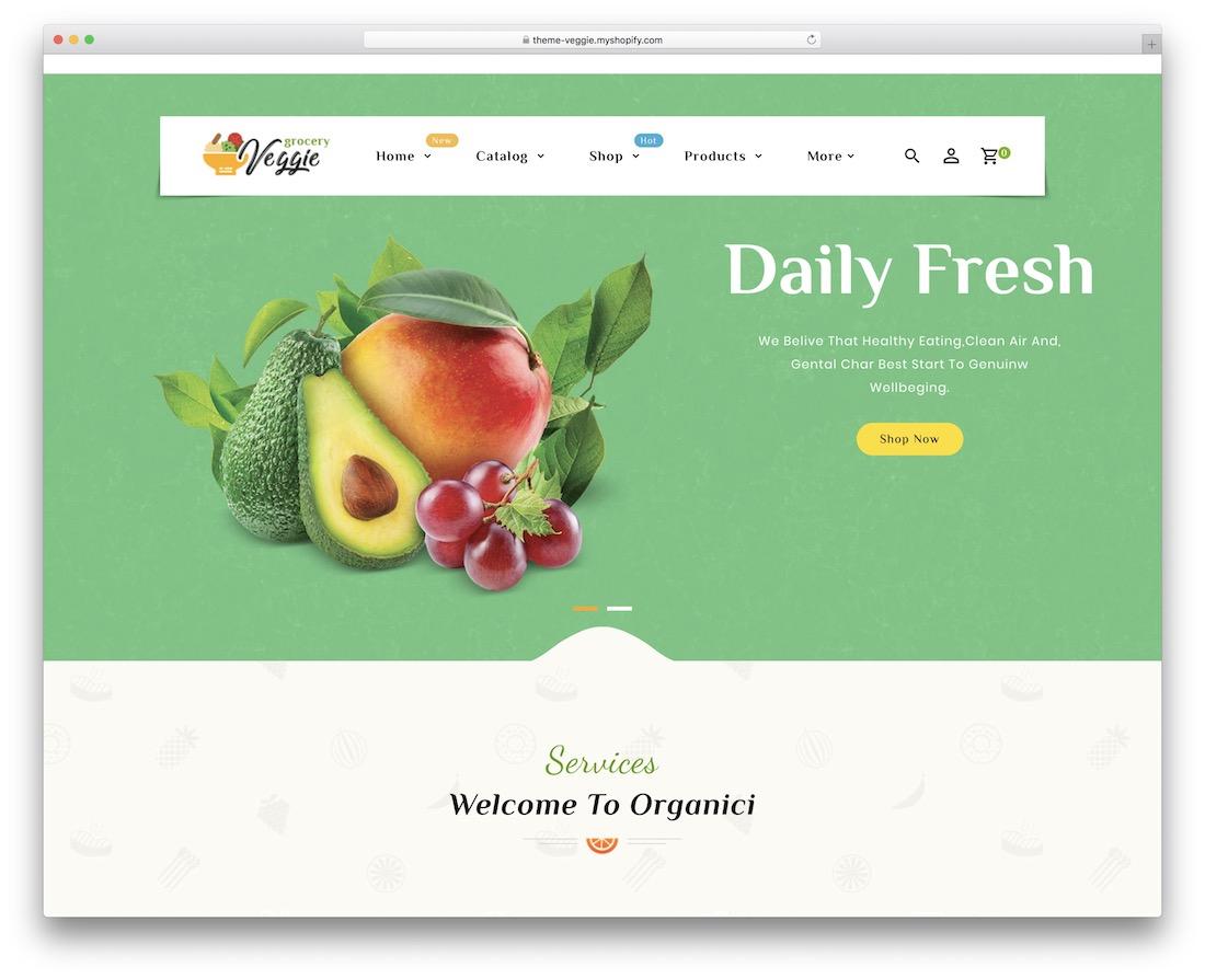 veggie shopify parallax theme