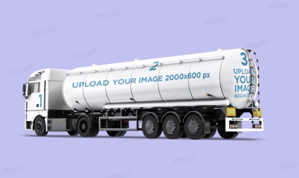 vehicle wrap mockup featuring a tanker truck
