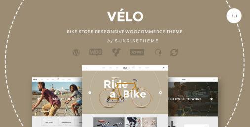 Velo Bike Store Wordpress Theme