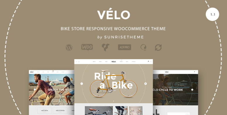 VELO – Professional And Responsive Bike Store ECommerce Business Theme