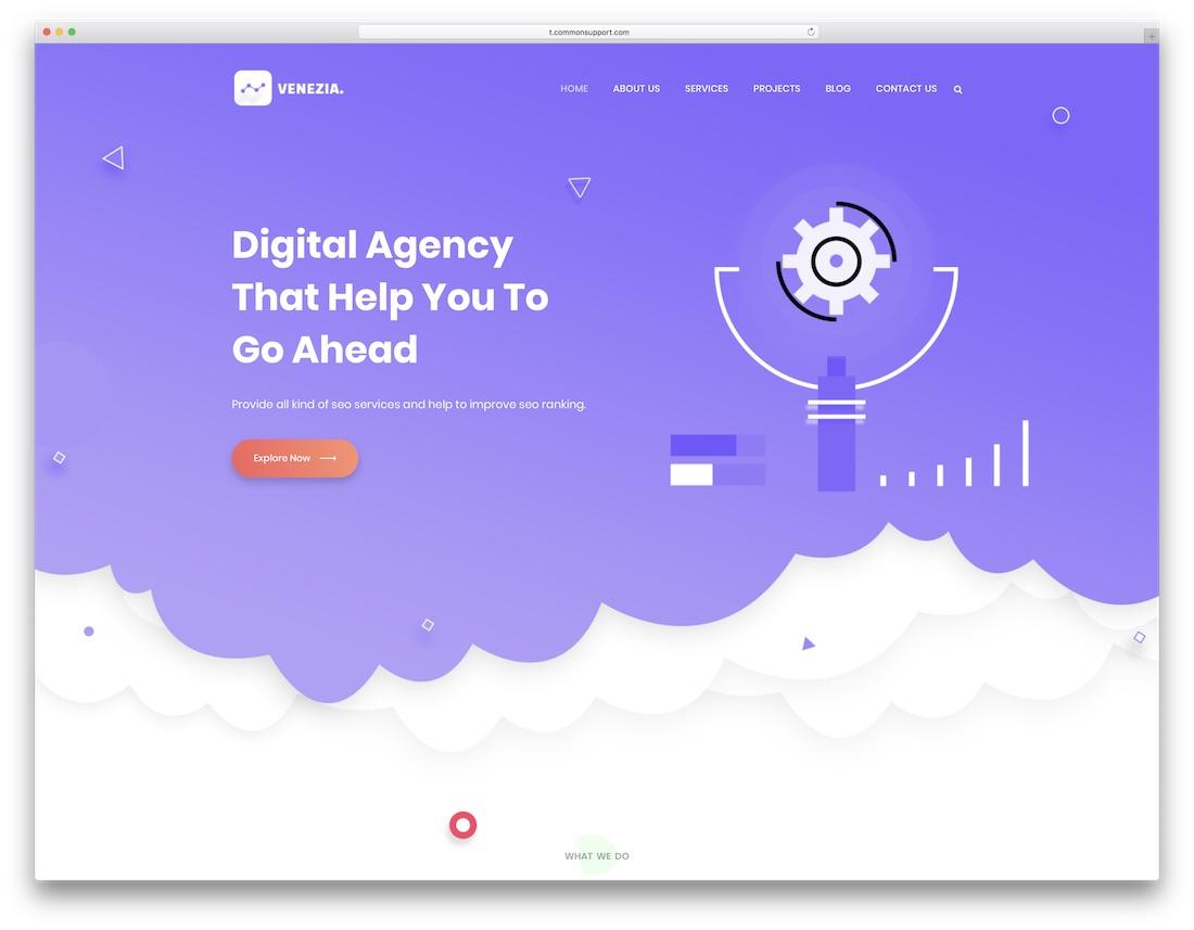 venezia marketing website template