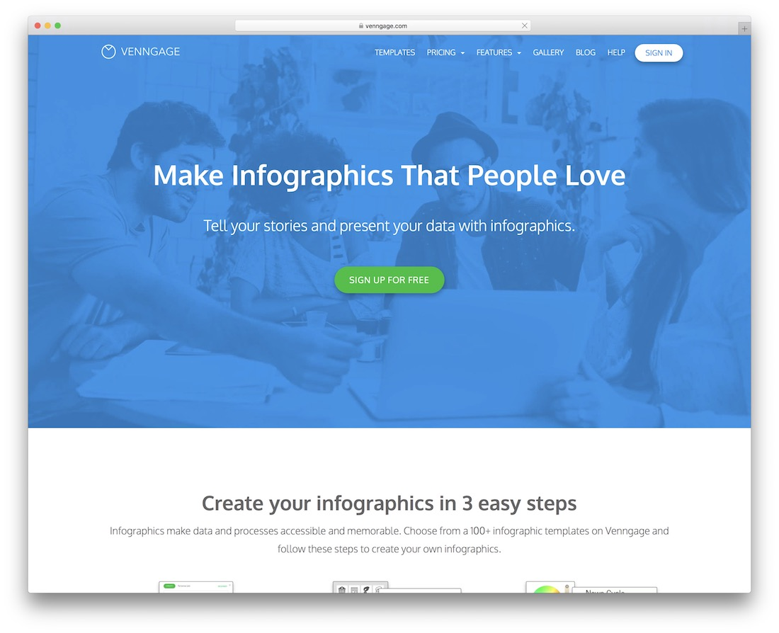 venngage tool for creating infographics