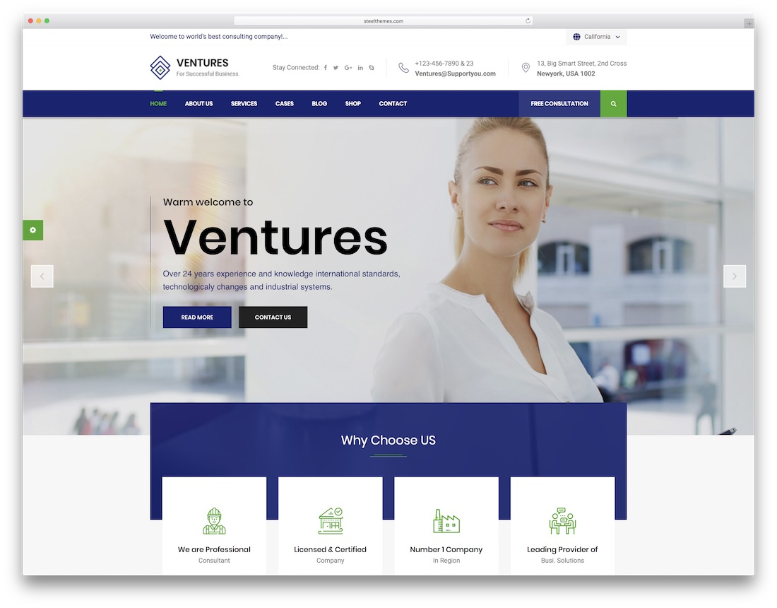 ventures consulting website template