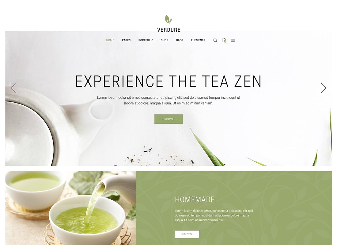 Verdure - A Modern Tea House and Shop Theme