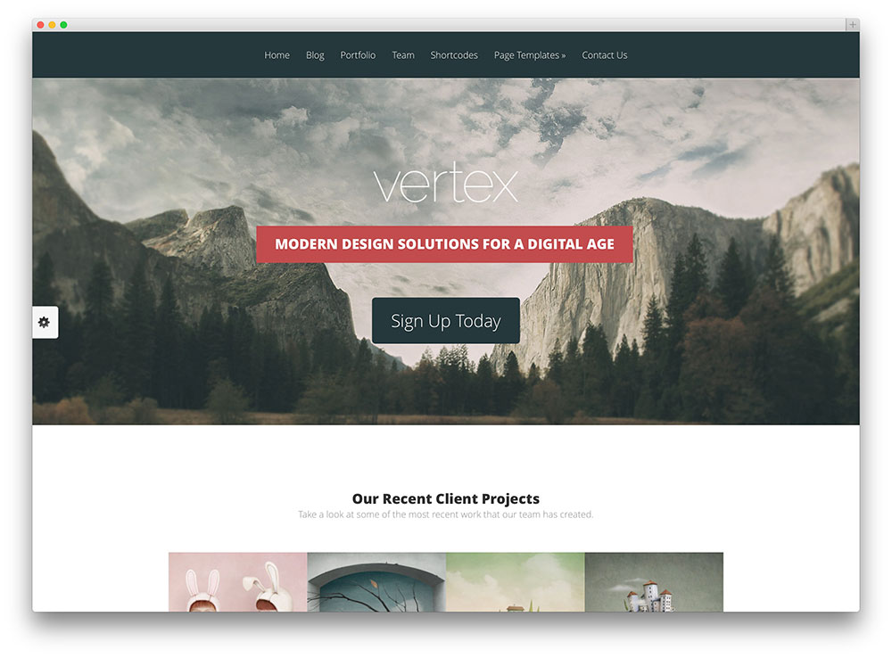 vertex photography wordpress theme
