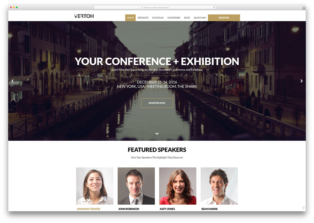 vertoh-simple-conference-management-theme