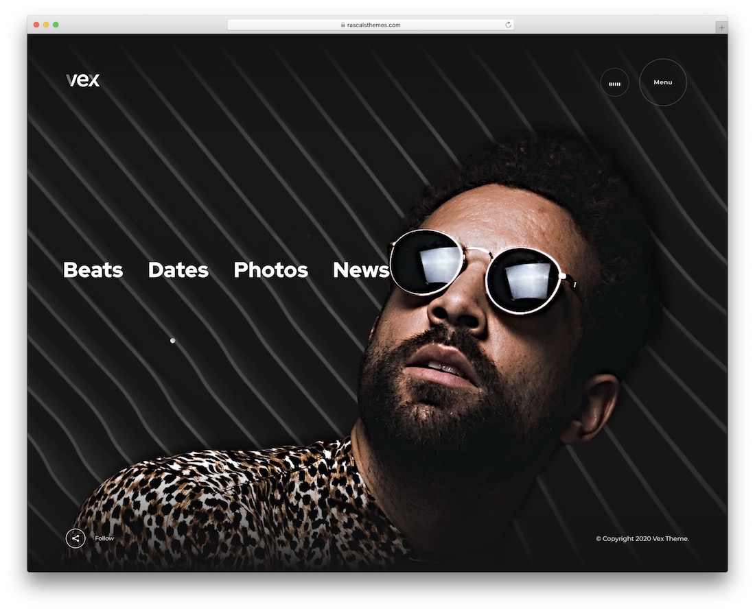 vex music wordpress theme