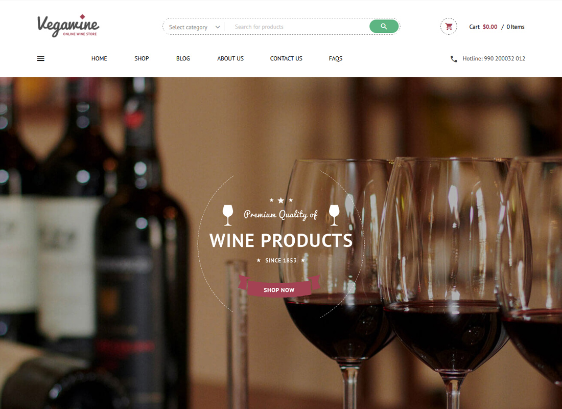 VG VegaWine - Wine, Winery, and Vineyard WooCommerce Theme