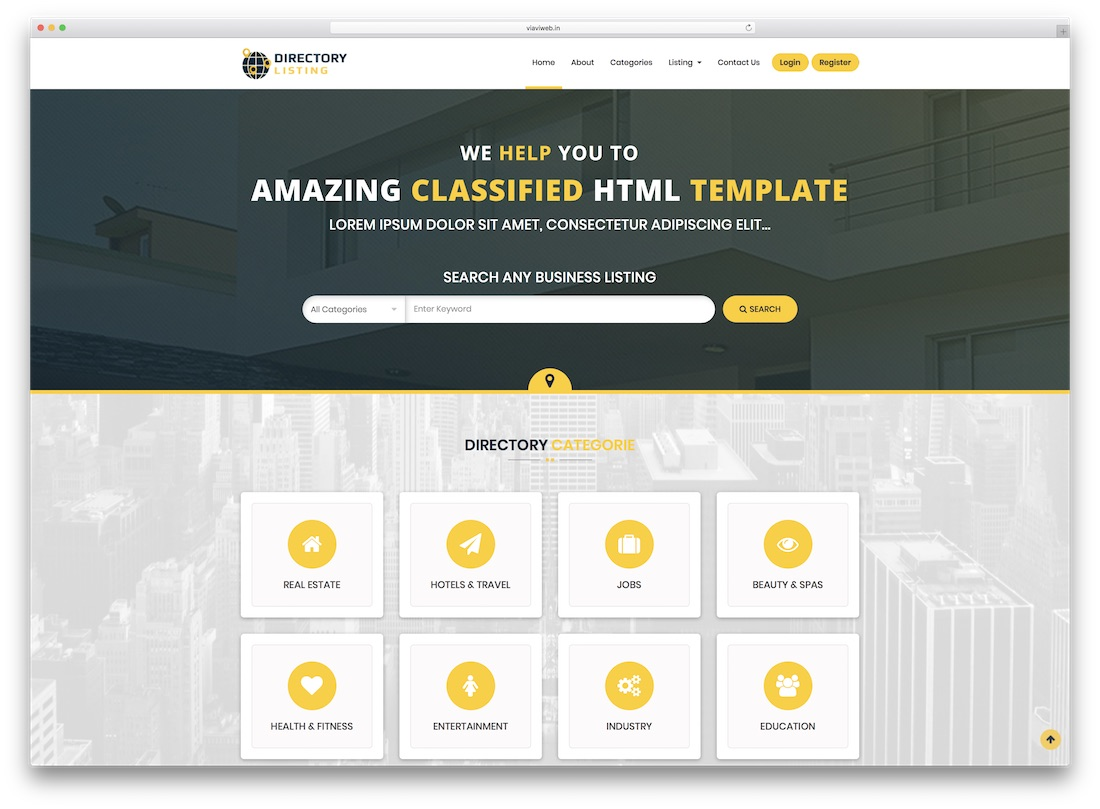 Viavi Directory Listing Website Template