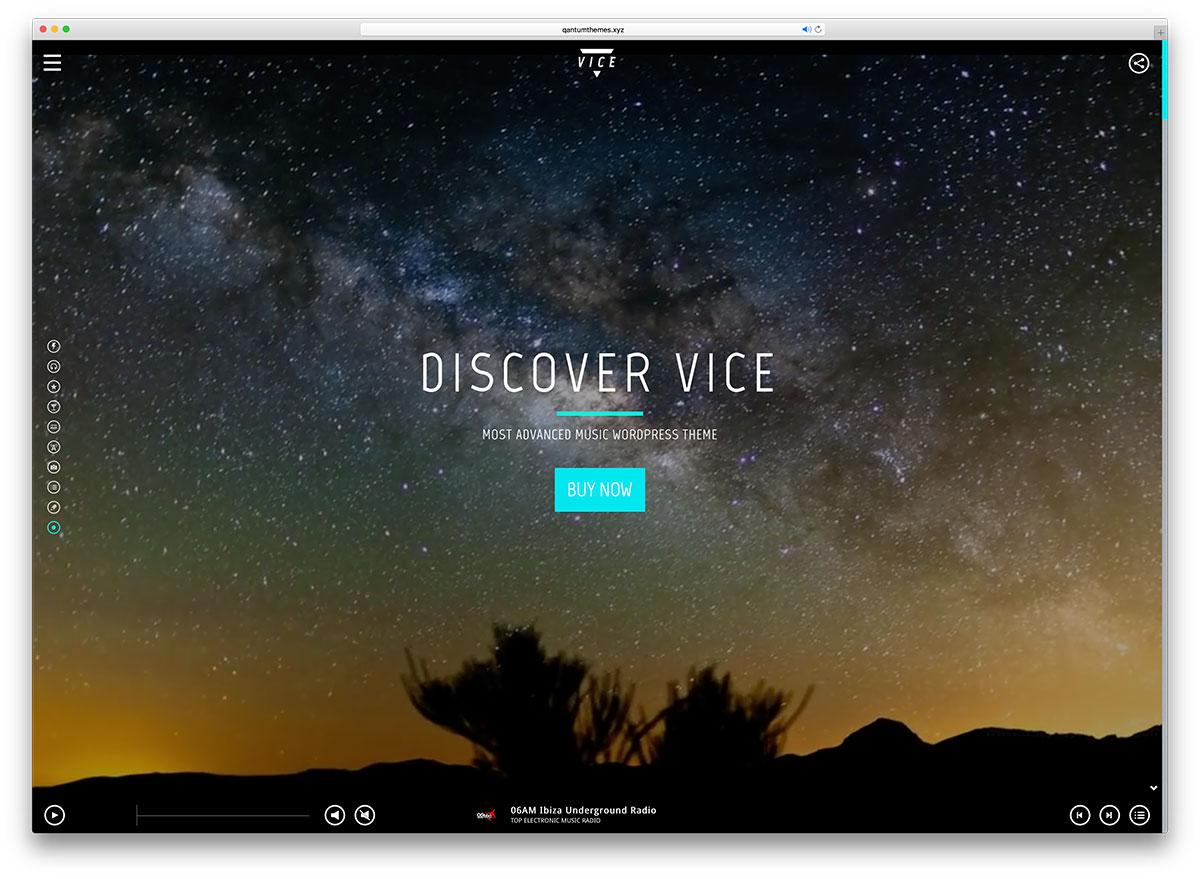 vice-fullscreen-artist-wordpress-theme