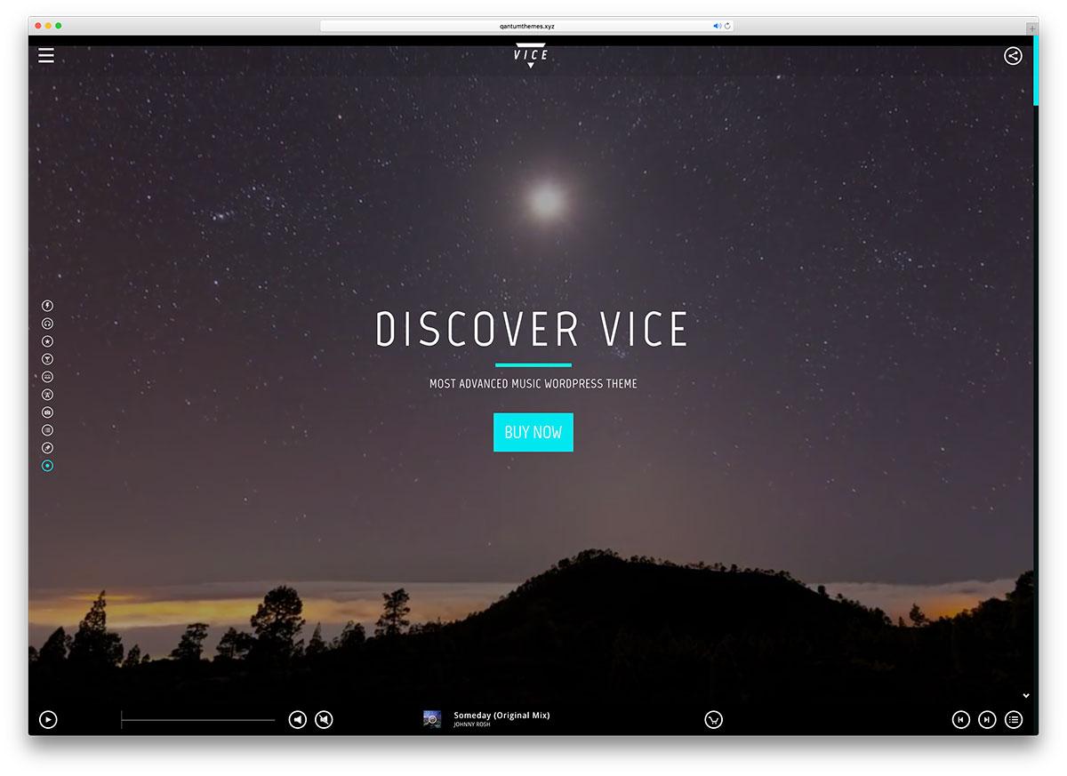 vice-fullscreen-music-wordpress-theme