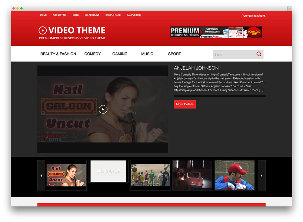 video theme - powerful video theme