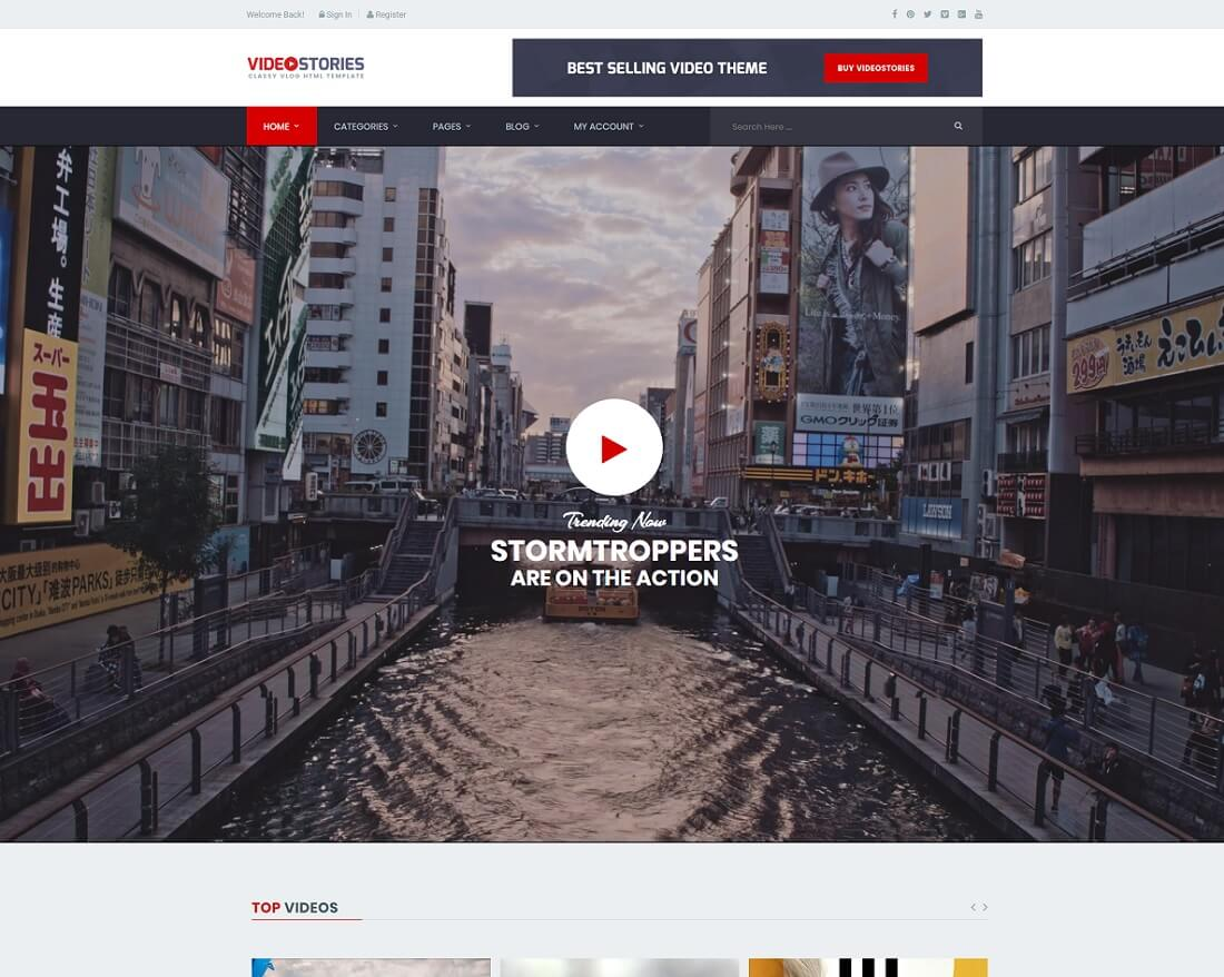 21 Highly Customizable Video Website Templates 2018