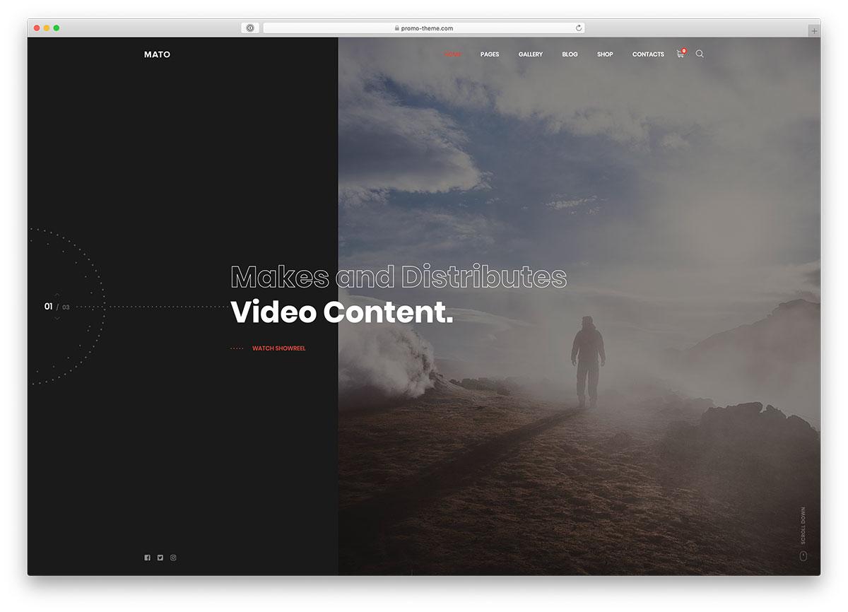 19 Best Videographer WordPress Themes For Videographer's Portfolio 2020