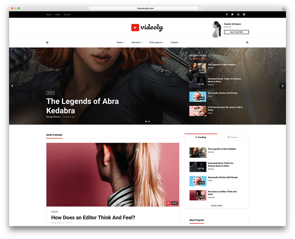 Videoly Is Newedge Video Dedicated Wordpress Theme It Includes A Bunch Of  Prebuilt Homepages To Get You Quickly Set Up It Also Has A Panel Tweak  For No