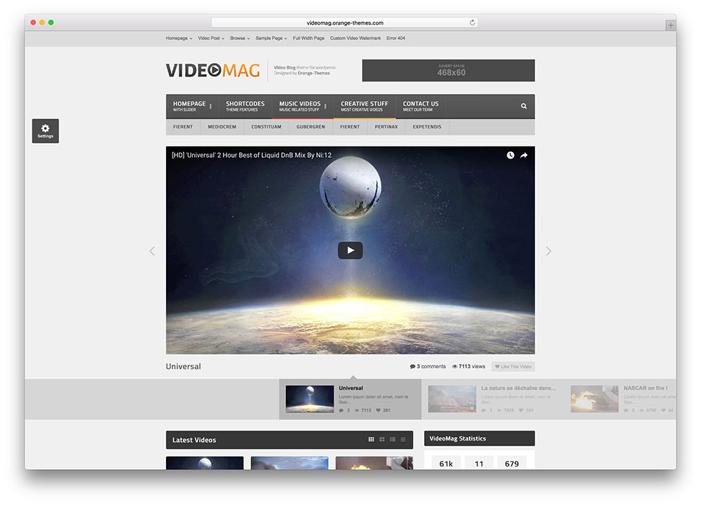 Best WordPress Video Themes For Embedded and Self Hosted Videos 2018 ...