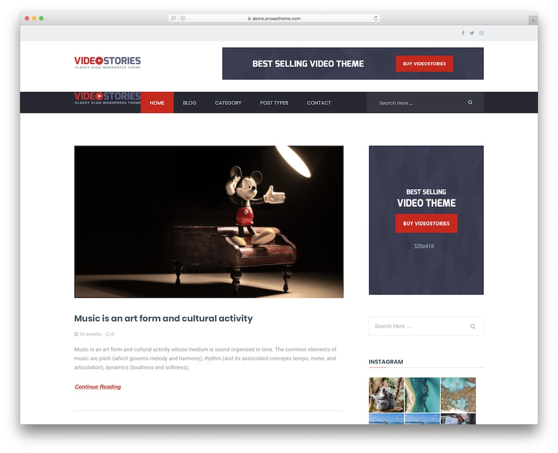videostories free wordpress theme