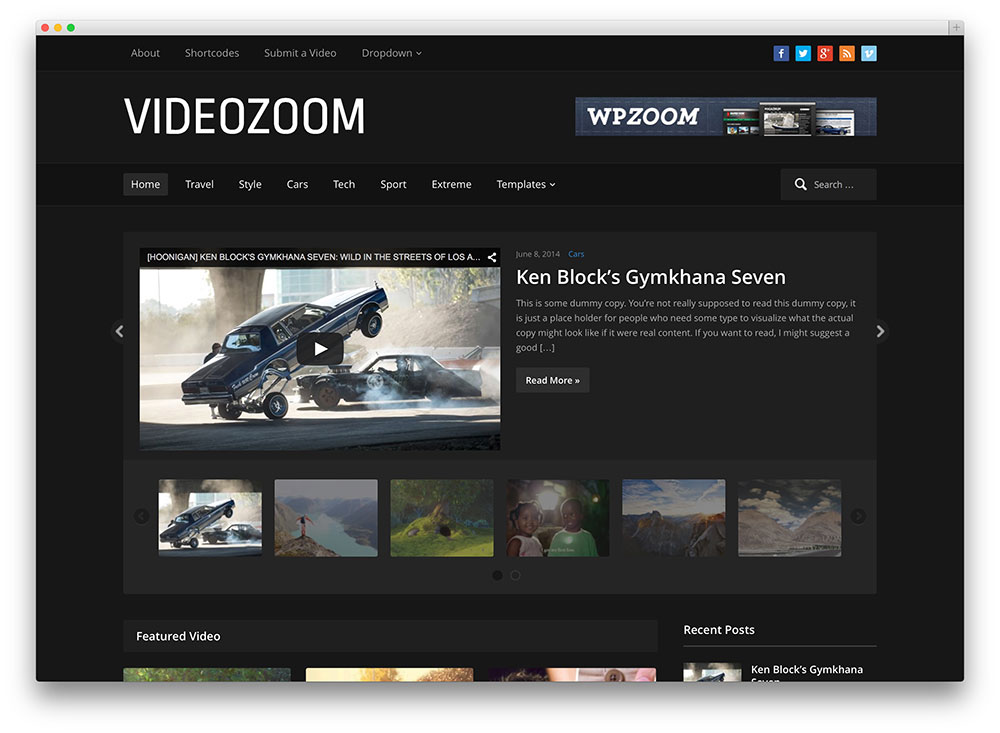 videozoom popular video sharing theme