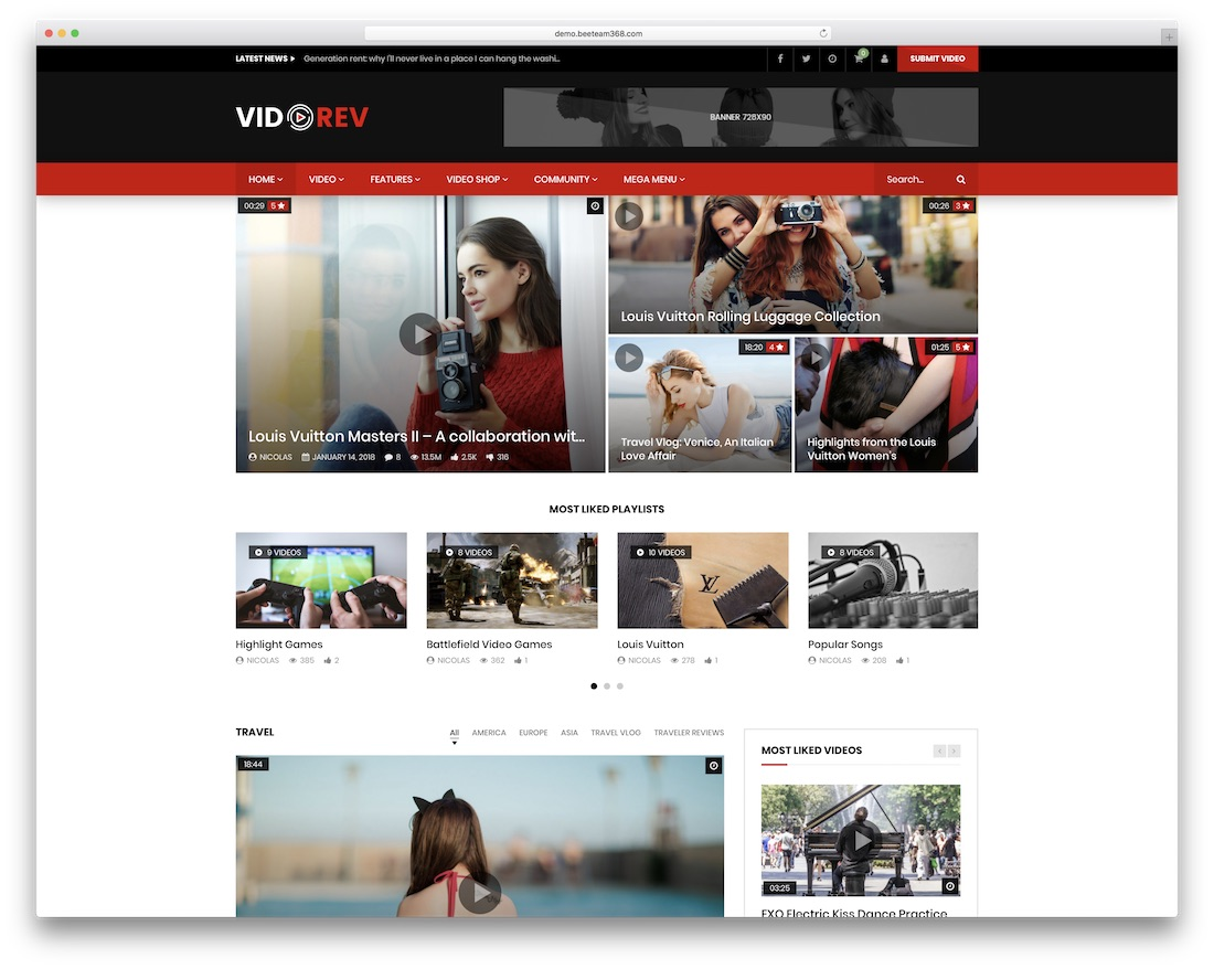 vidorev adsense optimized wordpress theme