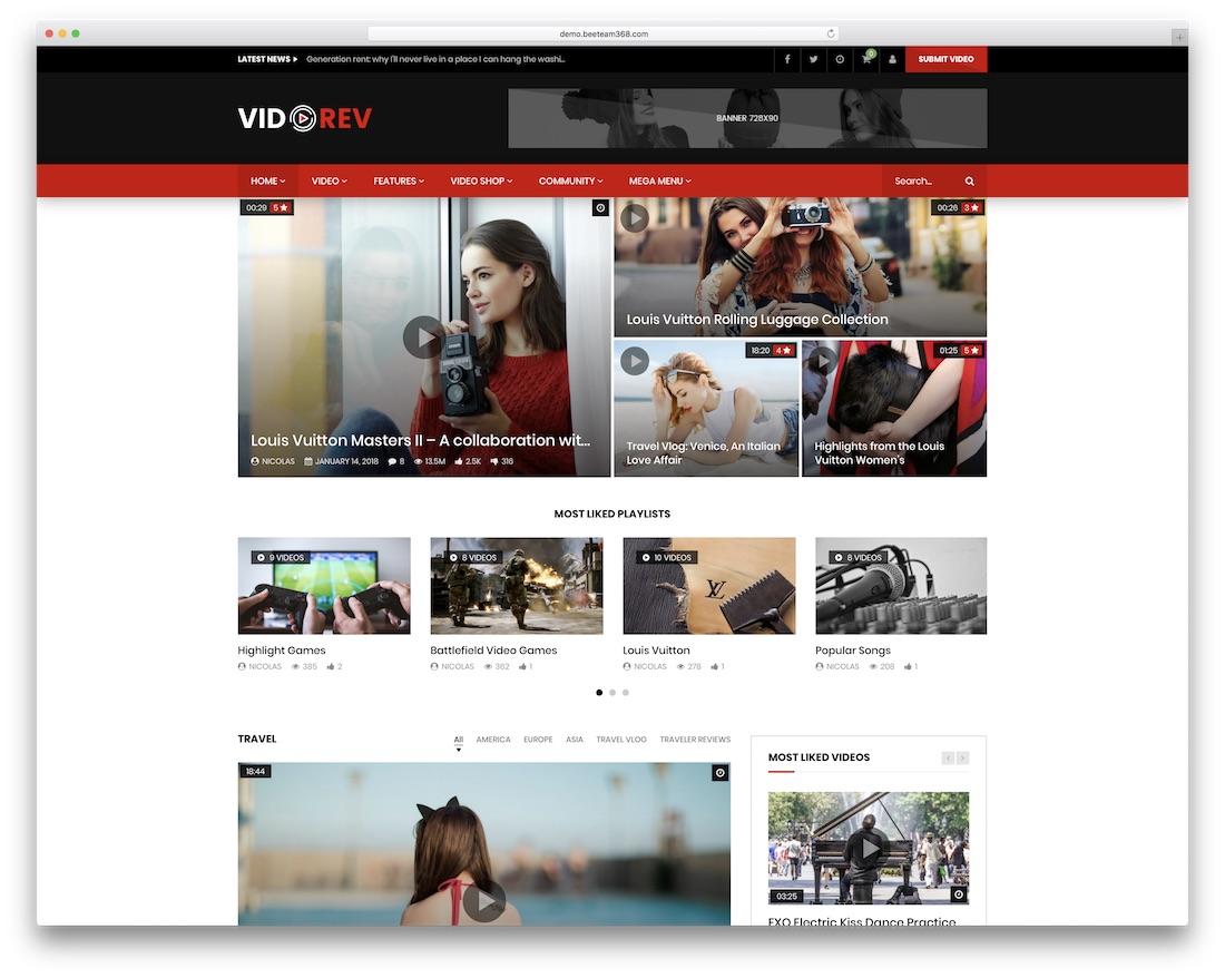 vidorev adsense optimized wordpress theme