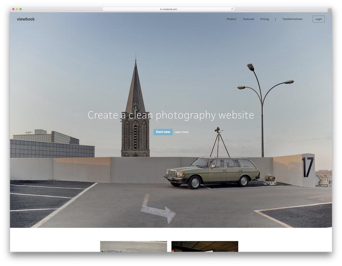 viewbook best website builder for photographers