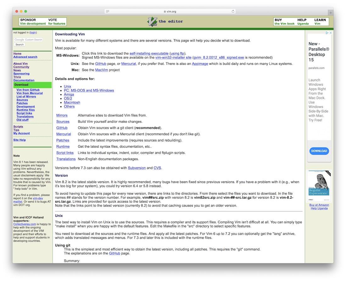 vim code editor for web designers
