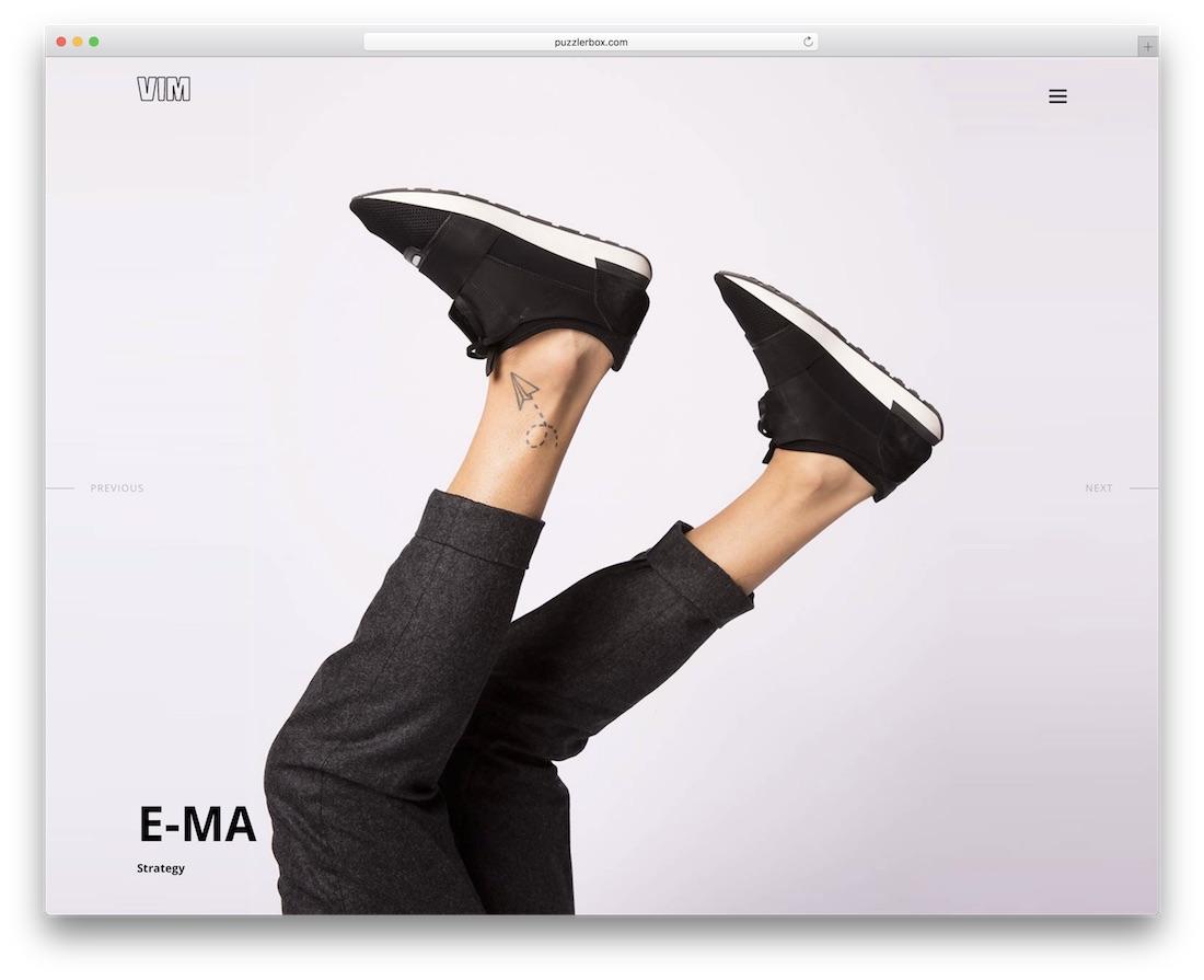 vim wordpress theme for designers