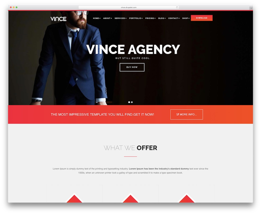 vince drupal business template
