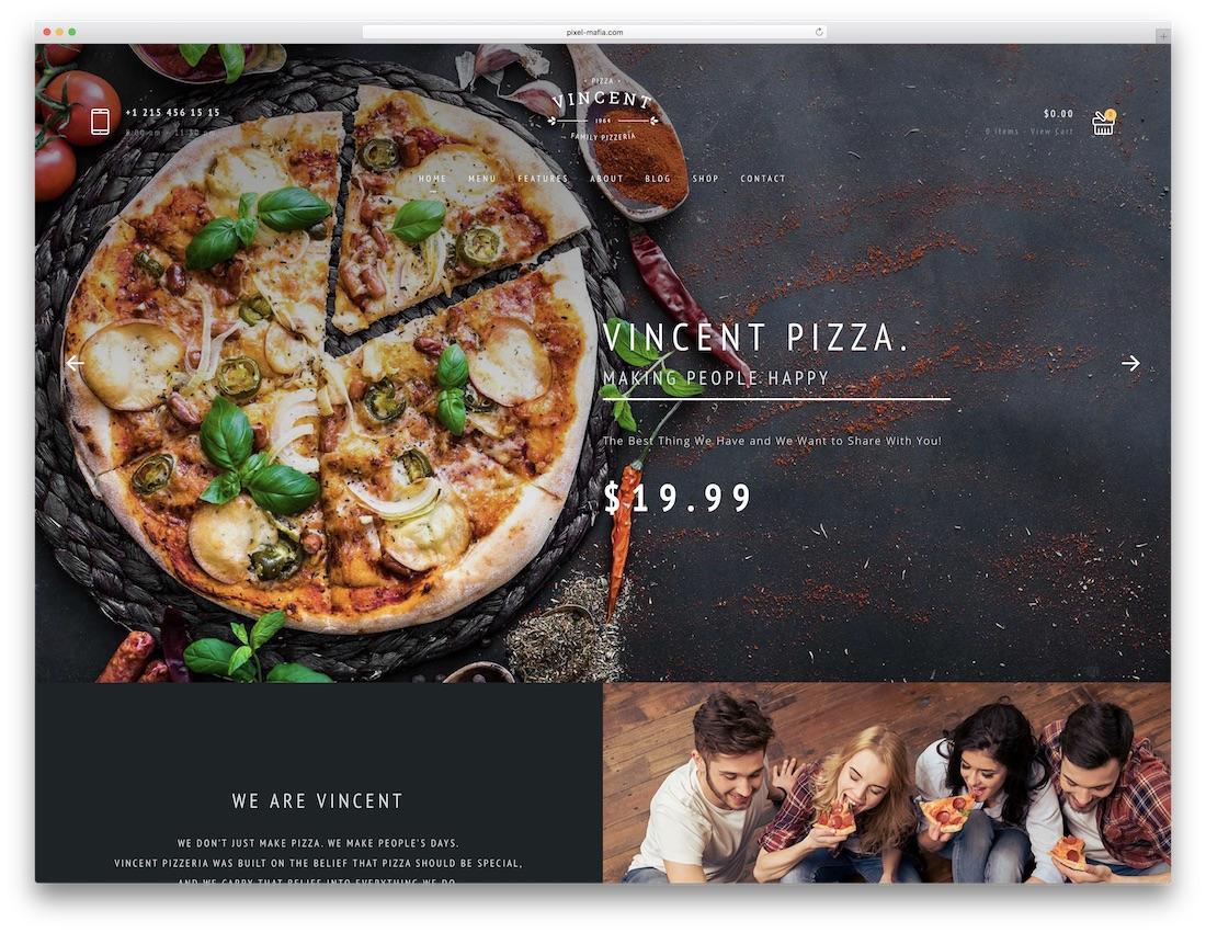vincent fullscreen website template